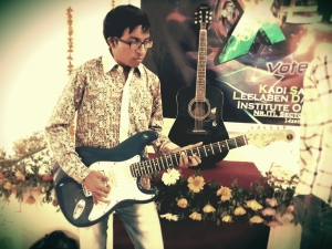 Jayesh Shrimali with gitar